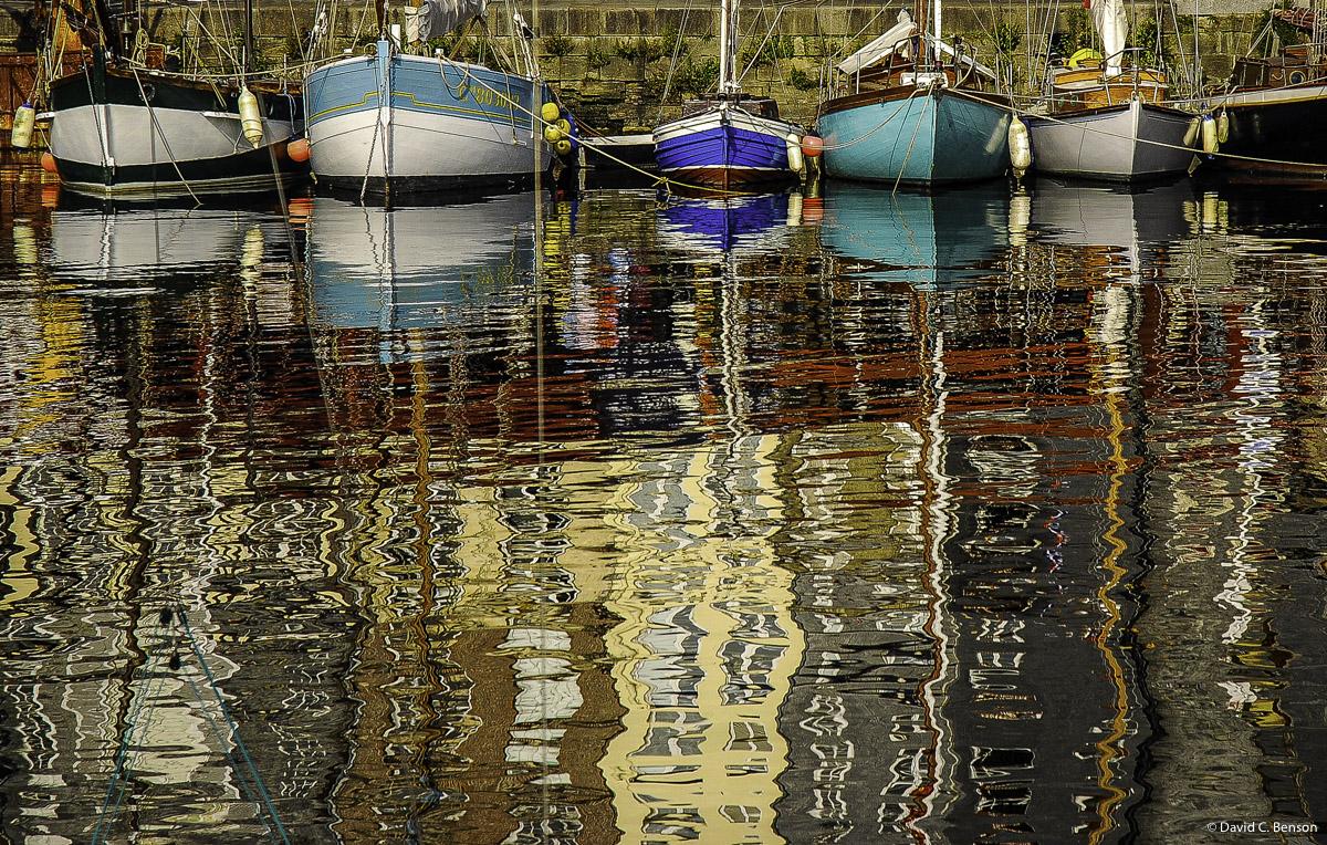 France,  Le Harve, Sailboats, Oil reflection, photo