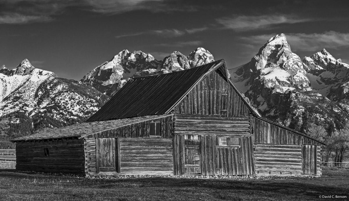 Wyoming, Jackson, Jackson Hole, Mormon Row Historic District, Barn, Sunrise, photo