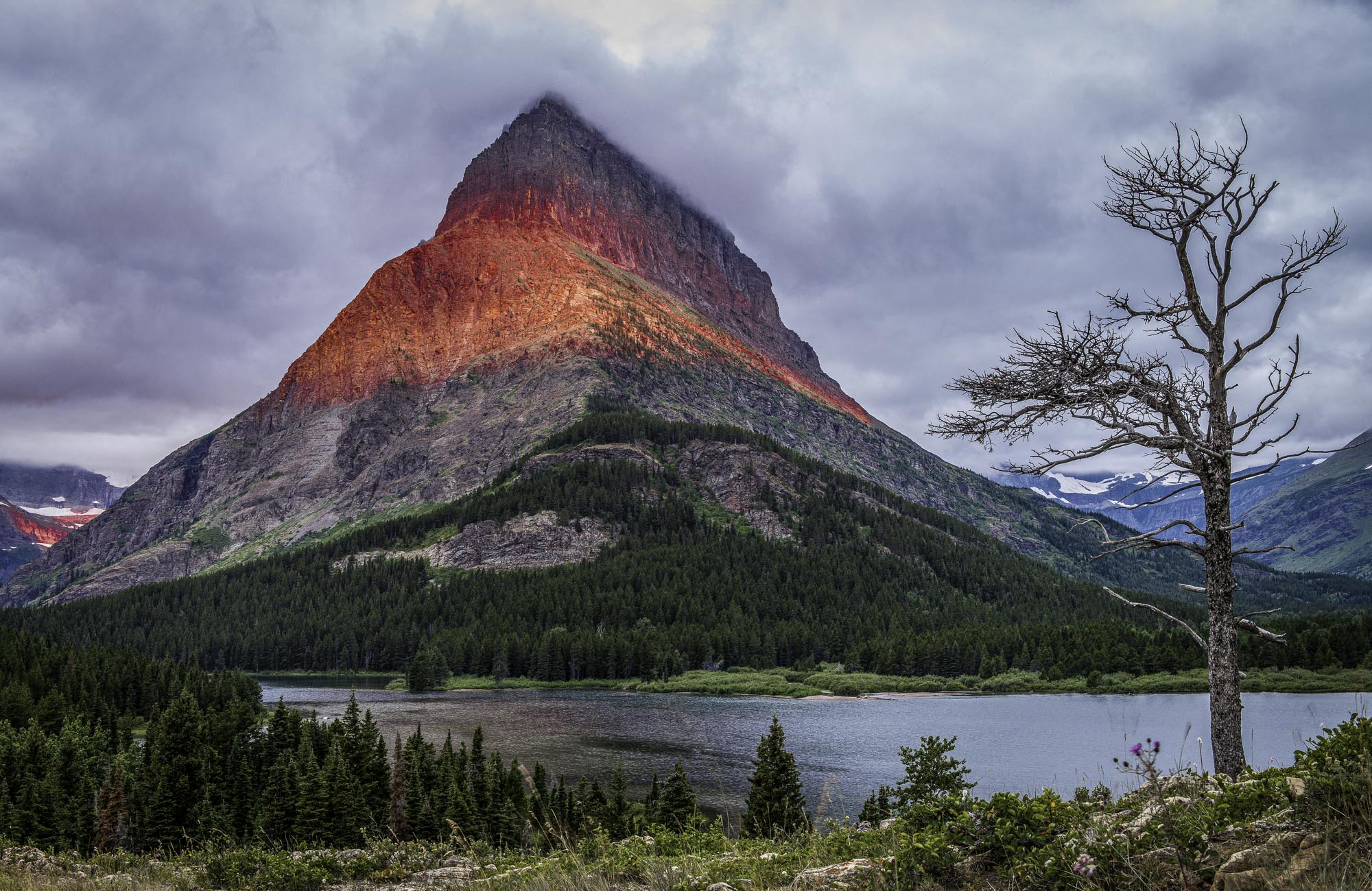 Montana, Glacier National Park, Grinnell Point, Summer, Sunrise, Lava, photo